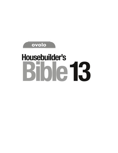 The Housebuilder's Bible 13th edition