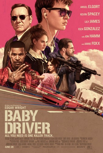 Baby Driver (2017) 1080p BluRay x264 {Dual Audio} [Hindi+English] DREDD