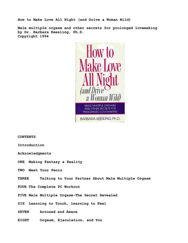 How to Make Love All Night And Drive a Woman Wild! (And Drive a Woman Wild  Male Multiple Orgasm ...