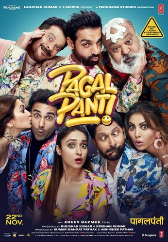 Pagalpanti (2019) 720p HDRip x264 AAC 5 1 ESubs-TeamTT