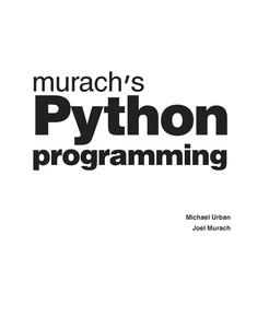 Murach's Python
