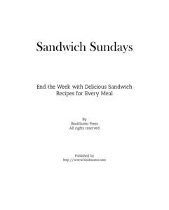 Sandwich Sundays