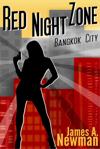Red Night Zone  Bangkok City by James A  Newman