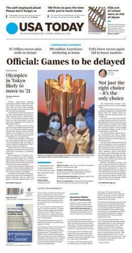 USA Today Newspaper - March 24, 2020 USA