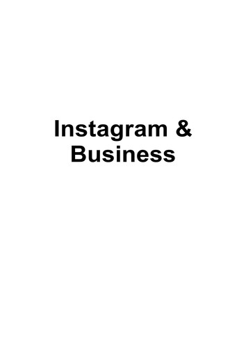 Instagram And Business