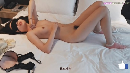 Sexy asian girl having sex in a hotel with blind open